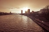FRANKFURT, HESSE-February 12 : view of Frankfurt am Main. Frankfurt, is the largest city in the Germ