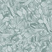 Seamless vector pattern with crystals