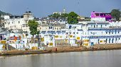 Pilgrims Take Ritual Bathing In Holy Lake On In Pushkar