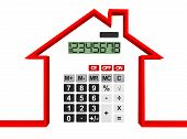 stock photo of calculator  - Real Estate Concept - JPG