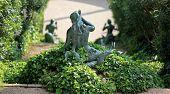 Statue  mermaid in the bush