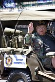 Veteran riding in the Memorial Day Parade in Warrenton, Virginia.