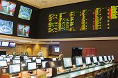 Las Vegas -nevada, Usa, September, 30: Sport Betting At The Luxury Hotel Caesar Palace On September,
