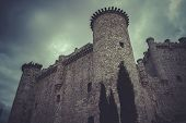 Medieval castle, spain architecture