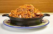 Paella. Colombian cuisine.