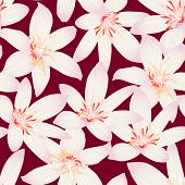 White Tropical Hibiscus Floral Design Seamless Pattern
