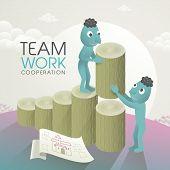 Lovely Team Work Concept
