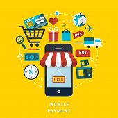 Mobile Payment Concept With Related Elements