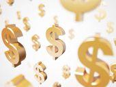 3d rendered illustration of a floating dollar sign