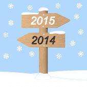 Happy New Year 2015. Vector Invitation Card