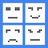 Set Of Basic Emoticons In Flat Design