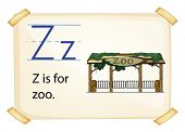 A letter Z for zoo on a white background