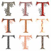 Various Combination Fishnet Letter T.