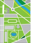 Vector map of city center
