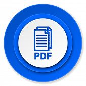 pdf icon, pdf file sign