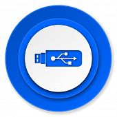 usb icon, flash memory sign