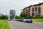 Baltrusaicio Street And Cars In Vilnius