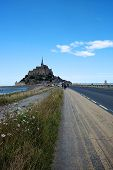 picture of mont saint michel  - A road to french abbey Mont Saint Michel. ** Note: Visible grain at 100%, best at smaller sizes - JPG