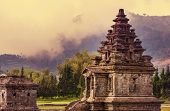Arjuna complex in plateau Dieng, Java , Indonesia