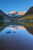 Maroon Bells Sunrise Aspen Colorado Vertical Composition Reflection