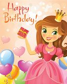stock photo of princess crown  - Happy Birthday - JPG