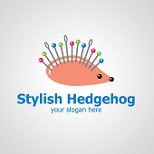 Stylish Hedgehog Vector Logo Design