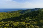 image of sari  - View of the Mediterranean Sea from Sari Solenzara Corsica France - JPG