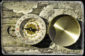 Vintage photo of a compass