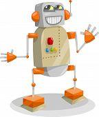 Fantasy Robot Cartoon Illustration