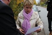 Candidate for mayor of Khimki opposition leader Yevgeniya Chirikova