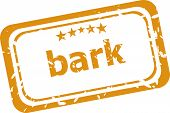 Bark Word On Rubber Grunge Stamp Isolated On White