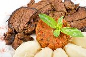 picture of clary  - delicate beef fillet roasted with herbs  - JPG