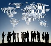 picture of population  - World Population Global People Community International Concept - JPG