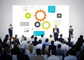 picture of seminars  - Business People Meeting Seminar Conference Audience Team Concept - JPG