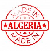 pic of algeria  - Made in Algeria red seal image with hi - JPG