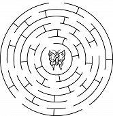 foto of maze  - Butterfly labyrinth - JPG