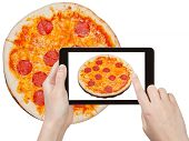 pic of take out pizza  - photographing food concept  - JPG