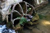pic of water-mill  - Old broken water mill wheel - JPG