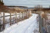 pic of bike path  - Bike path to bay covered by snow - JPG