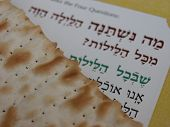stock photo of matzah  - matzah (unleavened bread) eaten at the seder service during jewish festival of passover (pesach)