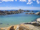 stock photo of emerald  - Granite reefs and emerald sea of Lavezzi Island - JPG