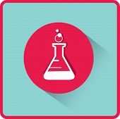 picture of beaker  - flat beaker icon - JPG