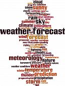 Постер, плакат: Weather Forecast Word Cloud