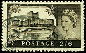 Vintage Postage Stamp.  Carrickfergus Castle.