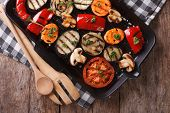picture of grill  - grilled vegetables - JPG