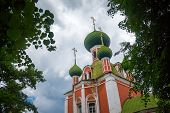 pic of cupola  - Green cupolas of the Alexandr Nevsky church in Pereslavl - JPG