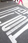 foto of seoul south korea  - The traffic sign on the street at Seoul - JPG
