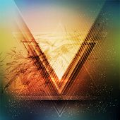 picture of future  - Abstract triangle future vector background  EPS 10 - JPG