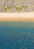 pic of atlantic ocean beach  - Atlantic ocean and beach Las Teresitas - JPG