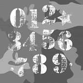 picture of camo  - army vector numbers camo background american military - JPG